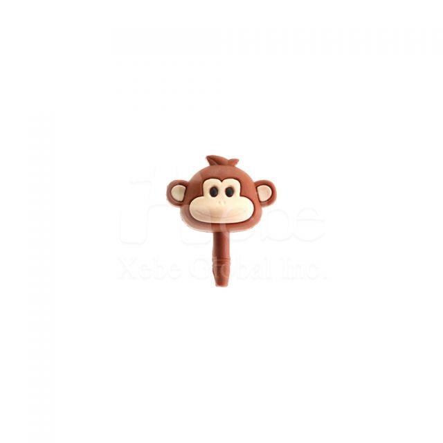 猴子耳機防塵塞