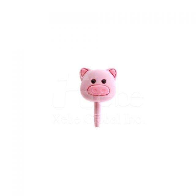 造型豬仔耳機塞