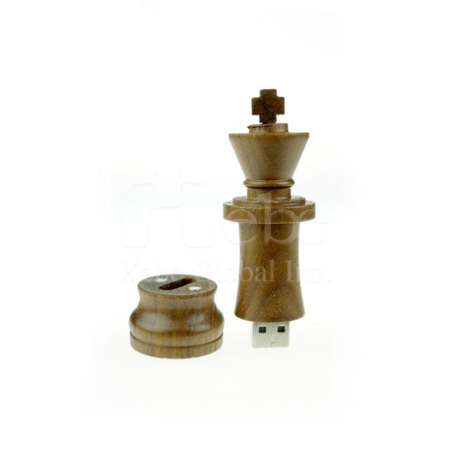 西洋棋木質USB手指 木頭USB手指訂造