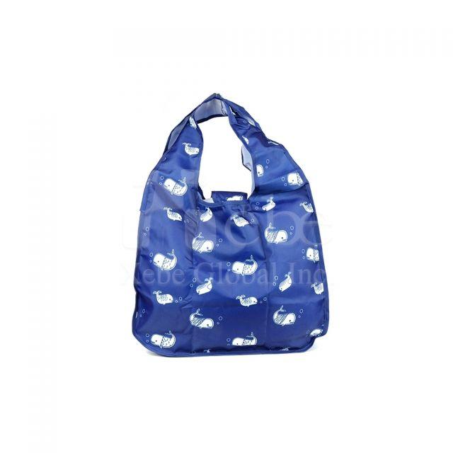 小白鯨訂造環保袋 摺疊購物袋訂造