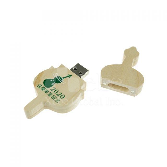 LOGO提琴木製USB手指