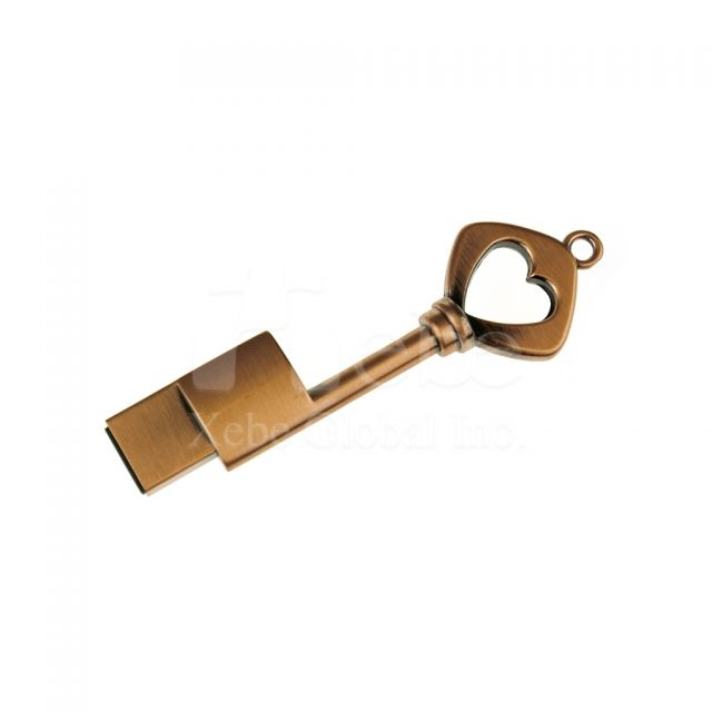 玫瑰金鑰匙USB手指