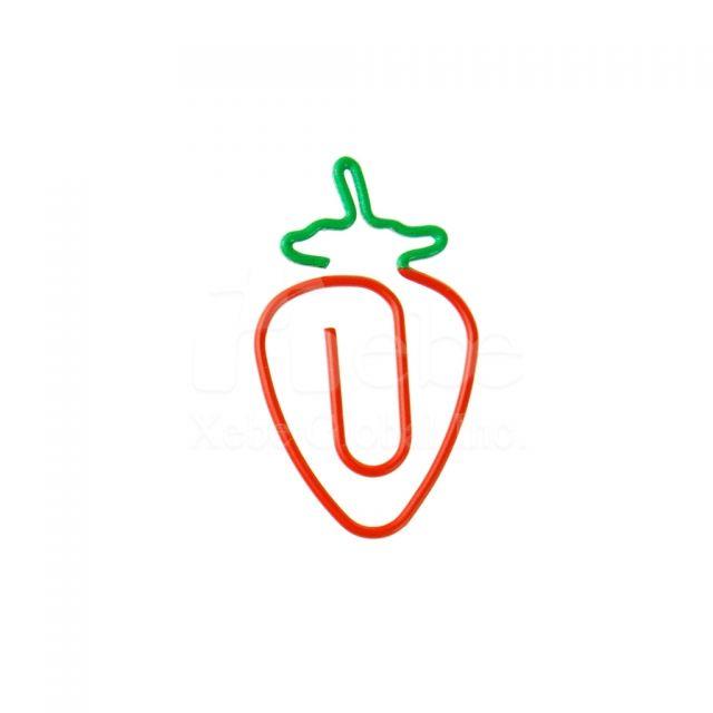 客製化草莓雙色迴紋針