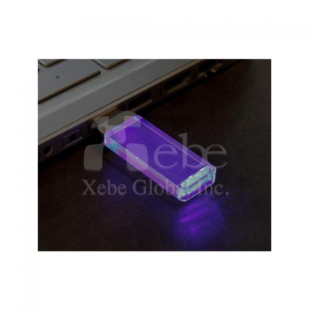訂造發光水晶USB手指