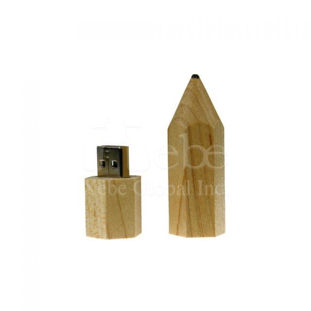 迷你鉛筆原木USB手指